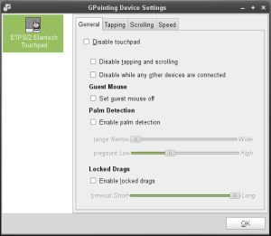 gpointing-device-settings with kernel 2.6.35