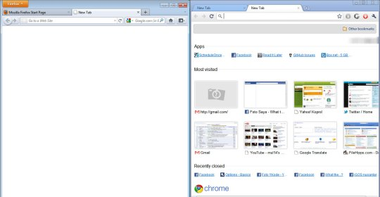 Firefox 4 VS Chrome - New Tab