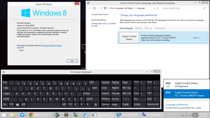 Dvorak-Qwerty on Windows 8.1 Pro with Media Center